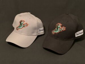 Norfolk Tides Trident Hats-Lot of 2-Black and Gray-New Never Worn