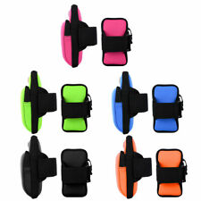 2Pcs Sports Gym Running Jogging Arm Band Bag Holder Case Cover For Cell Phone