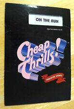 On the Run by Cheap Thrills game with 5.25 inch disk for Apple II+,IIe,IIc,IIgs