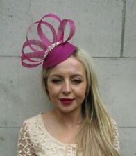 Berry Dark Magenta Fuchsia Pink Rose Gold Pillbox Hat Hair Fascinator Clip 7227