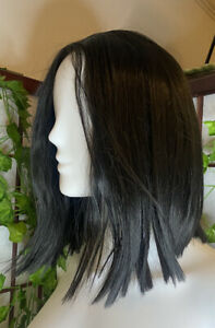 Nayasa Black Synthetic 12 Inch Lace Front Wig