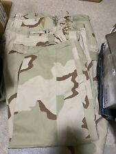 US. MILITARY ISSUE,DESERT CAMOUFLAGE, PANTS,TROUSERS,LARGE SHORT WITH STAINS,NEW