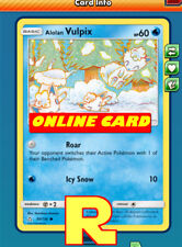 4x Alolan Vulpix (Ultra prism) - for Pokemon TCG Online ( ptcgo in Game Card)