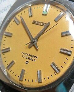 Yellow Dial Vintage 1971 S/S Men's Seiko Parashock 17 Jewel Watch 66-8070 Runs