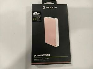 Mophie Rose Gold Powerstation 24 Hour Quick Charge External Battery-6000 mAh NEW