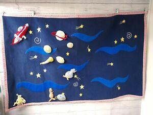 "Solar System Planets Wall Decor Fabric courtain Kids Baby Nursery 58"" x 35"""