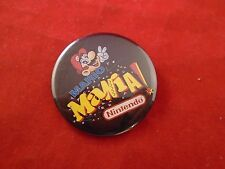 Mario Mania Super Nintendo Promotional Button Pin Back Promo