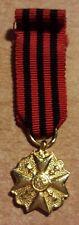 BELGIQUE Médaille civique de première classe (Or)
