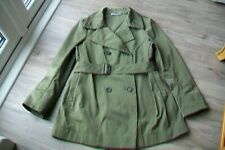 Jil Sander-women`s green polyester trench coat.EU 42.Slightly used.