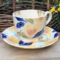 EMMA BRIDGEWATER rare . Pears . Jane Churchill . Large Cup & Saucer . spongeware