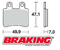 BRAKING PASTIGLIE POSTERIORI DERBI GP1 RACING LOW SEAT 125 2008 BRAKE PADS REAR