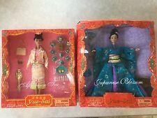 2 Yue-Sai Wa Wa Asian-American Dolls Japanese Blossom & Rare Afternoon Tea New