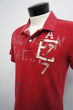 AE AMERICAN EAGLE 'Vintage Fit The Eagle Red Polo Shirt sz M mens S/S#5562