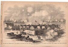 1861 Leslie's - November 30 - Fort Walker, Port Royal Harbor SC is bombarded
