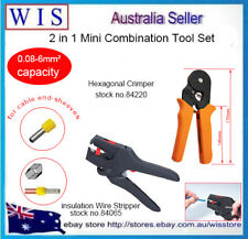 2 in 1 Self-adjusting Hexagonal Crimper & Insulation Wire Stripper,0.08-6mm²