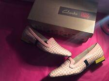 Clarks Orla Kiely Bella Rose Pink Floral Leather Loafers Sz 7 Bnib Bag
