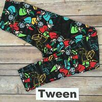 TWEEN LuLaRoe Kids Holiday Leggings; ELF, ELVES, PRESENTS; Christmas; sizes 00-0