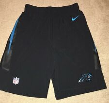 NIKE CAROLINA PANTHERS SPEED VENT SIDELINE SHORTS  S SMALL EMBROIDERED NWOT