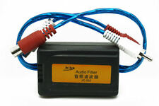 Car RCA Amplifier Audio Noise Filter Ground Loop Isolator Suppressor Subwoofer