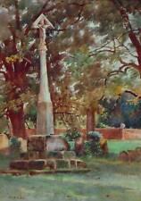 War Memorial Watercolour c1910 John Gutteridge Sykes (Newlyn1866-1941)