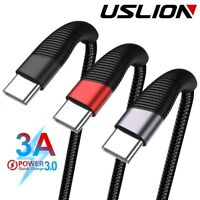 3A Type C Micro USB Nylon Braided  Fast Charger Sync Charging Phone Cable lot