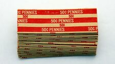 Coin Wrappers PENNY 1 Cent FlatKraft PaperCoin RollTubes CAD/USD -30pack-