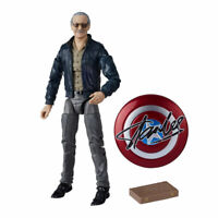 "Marvel Legends Stan Lee Captain America Shield ChessBoard 6"" Action Figure Loose"
