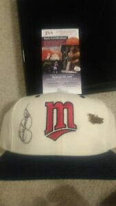 KIRBY PUCKETT SIGNED JSA AUTHENTIC MINNESOTA TWINS HAT AUTOGRAPHED