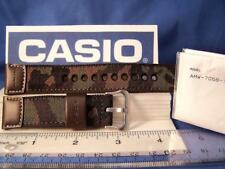 """Casio Watch Band AMW-705 B.22mm"""" Hunting Time""""  Military Brown Camouflage  w/Pin"""