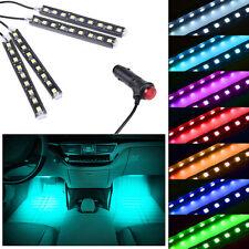 Ice Blue 9LED Car Interior Accessories Floor Decora Atmosphere Strip Lamp Lights