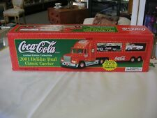 """Coca Cola 2001 """"Holiday Dual Classic Carrier Truck"""" With Thunderbirds"""