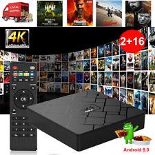 2+16GB Quad Core Android 9.0 Smart 4K H.265 Smart TV BOX WIFI HDMI Media Player