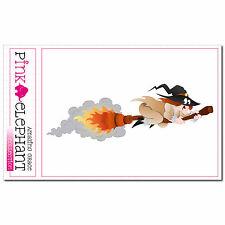 Pegatinas bruja - 09 - 13 x 4,5cm Witch Halloween macabra dulce o travesura magia