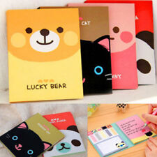 1Pcs Portable Cute Cartoon Kraft Paper Notepad Memo Diary Notebook Exercise Book