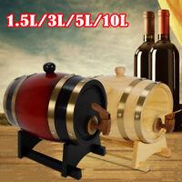 Party Wine Dispenser Pine Barrel-1.5/3/5/10 Liter Pine Keg Barrel Rum Whiskey US