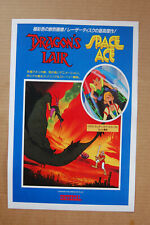 Dragons Lair & Space Ace Combo Arcade Flyer Video Game promotional poster