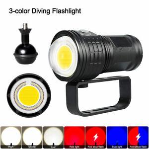 LED Tauchlampe Taschenlampe Unterwasser 80m Video Fotografie weiß rot blau Licht