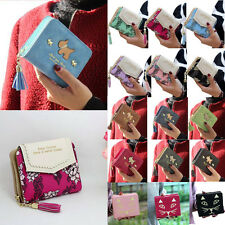 Fashion Women Clutch Ladies Leather Wallet Short Card Holder Purse Handbag Bags