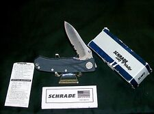 Schrade Liner Locker Knife SLW2 Lake & Walker Limited Edition W/Packaging,Papers