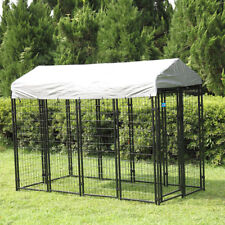 New listing 71'' H Large Outdoor Dog Kennel Pet Pen House Cage Sun Cover Shade Run Shelter