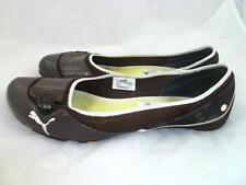 PUMA SABA 10 USED BROWN PATENT LEATHER BALLET/BALLERINA FLATS/COMFORT SHOES