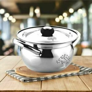 indian Stainless Steel Handi 1.5 L Silver