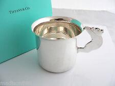 Tiffany & Co Silver Teddy Bear Toy Baby Child Cup Mug VERY Rare Heirloom w/ Bag