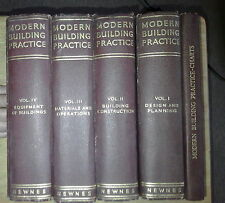 MODERN BUILDING PRACTICE - 4 VOS + CHARTS - gen ed PERCY E THOMAS GEORGE NEWNES
