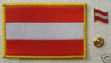 Austria National Flag Pin and Patch Embroidery