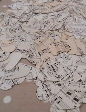 """Vintage Recycled Paper 1"""" Heart Confetti - Music Manuscript"""