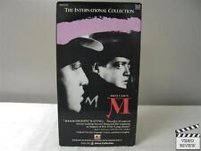M VHS Peter Lorre; Fritz Lang; GER w/ ENG SUB