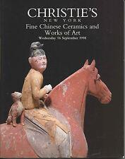 CHRISTIE'S CHINESE CERAMICS JADES SNUFF BOTTLES BRONZES TANG FIGURES Catalog 98