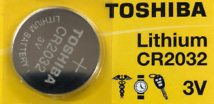 1 x New Original Toshiba CR2032 CR 2032 3V LITHIUM BATTERY BR2032 DL2032 Remote
