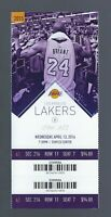 2015-2016 NBA JAZZ @ LAKERS UNUSED TICKET - KOBE BRYANT LAST GAME EVER - APR 13